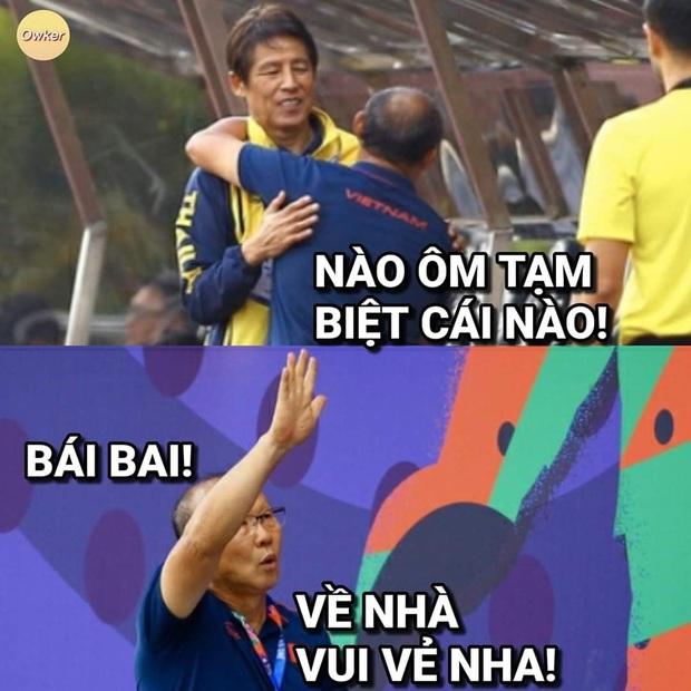 Cười lăn với loạt ảnh chế khi Việt Nam loại Thái Lan: Trọng tài đẹp trai chiếm spotlight, gây cười nhất là list thủ môn làm tăng độ khó cho game - Ảnh 10.