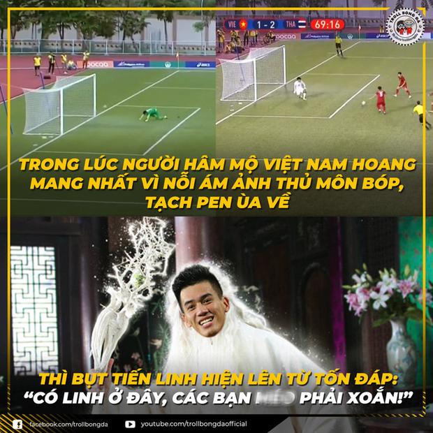Cười lăn với loạt ảnh chế khi Việt Nam loại Thái Lan: Trọng tài đẹp trai chiếm spotlight, gây cười nhất là list thủ môn làm tăng độ khó cho game - Ảnh 6.