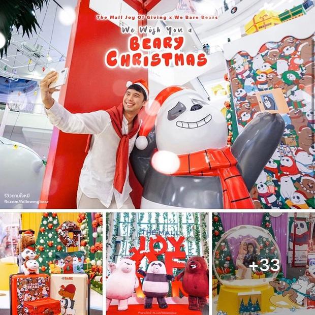 """Bị bắt trói rồi treo lửng lơ trong TTTM Thái Lan để… trang trí Noel, bộ 3 """"We Bare Bears"""" khiến dân mạng cười ra nước mắt - Ảnh 8."""