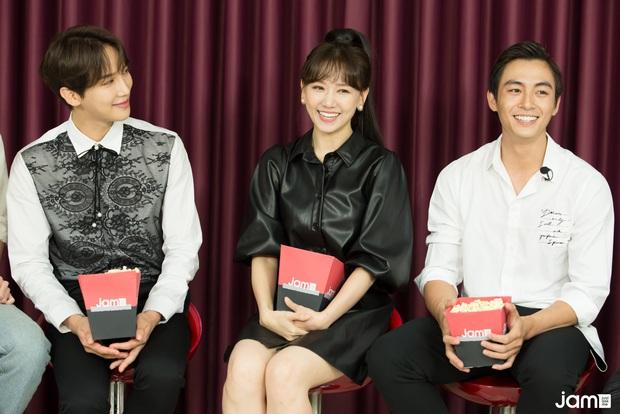 Hari Won điếng người đến mức đỏ mặt nhìn Oppa Phiền Quá Nha Park Jung Min khóa môi Lãnh Thanh,  - Ảnh 1.