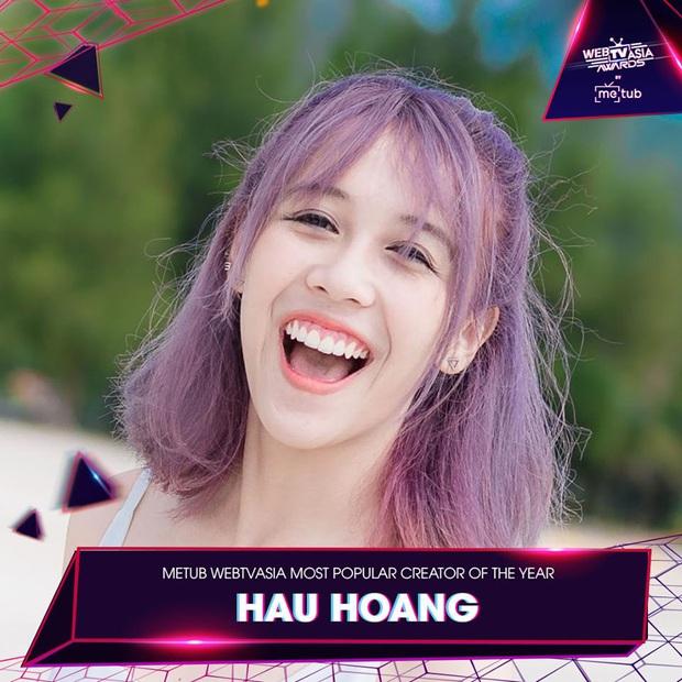 Hương Ly chia giải với Vũ Khắc Tiệp, loạt sao Hoàng Thùy Linh, Bích Phương, Min, Chi Pu vui vẻ cả làng tại WebTVAsia Awards 2019 - Ảnh 11.