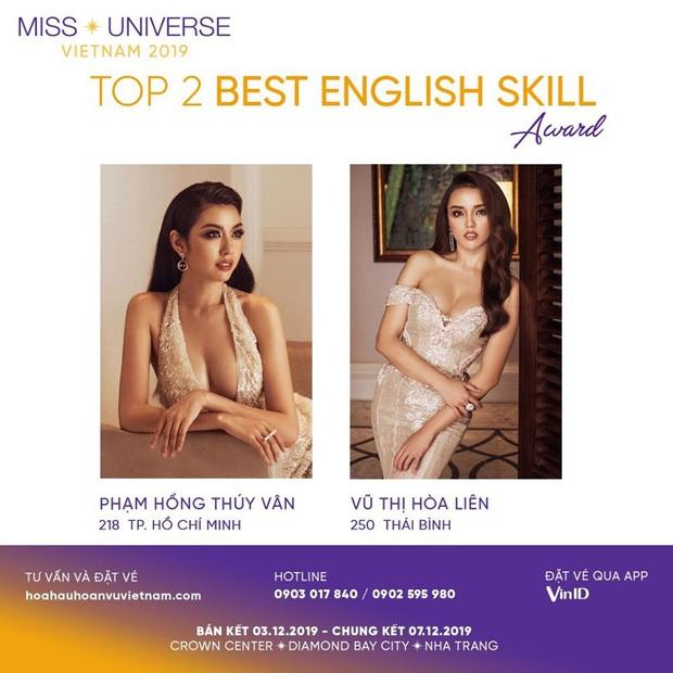 Thúy Vân chính thức đối đầu Hòa Liên, cùng lọt top tranh giải kĩ năng Tiếng Anh xuất sắc nhất Hoa hậu Hoàn vũ 2019 - Ảnh 1.
