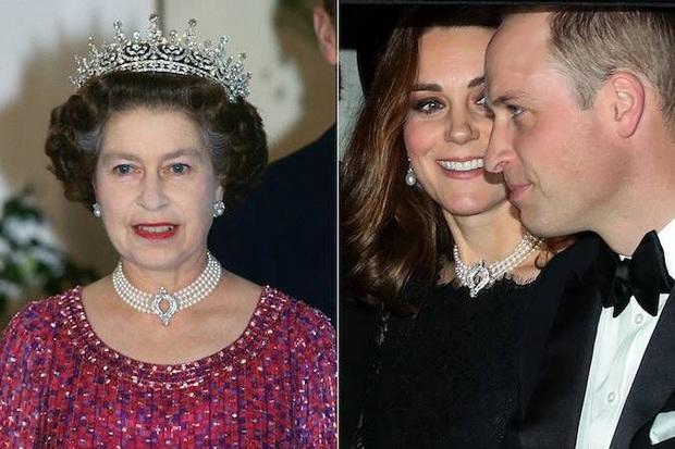 Không phải nữ nhân Hoàng gia nào cũng được dùng chung trang sức với Nữ hoàng Anh, nhưng cháu dâu Kate Middleton thì có - Ảnh 4.