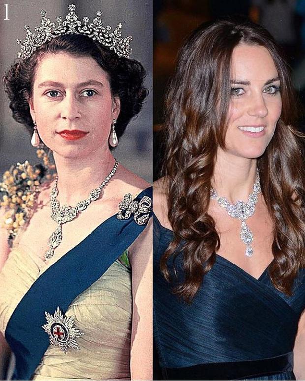 Không phải nữ nhân Hoàng gia nào cũng được dùng chung trang sức với Nữ hoàng Anh, nhưng cháu dâu Kate Middleton thì có - Ảnh 5.