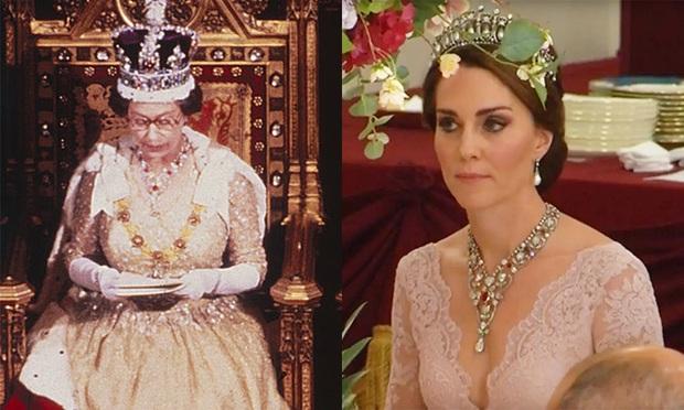 Không phải nữ nhân Hoàng gia nào cũng được dùng chung trang sức với Nữ hoàng Anh, nhưng cháu dâu Kate Middleton thì có - Ảnh 6.