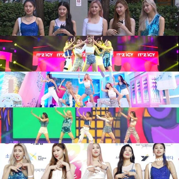 Tưởng JYP chịu đầu tư cho gà nhà ai ngờ vẫn keo: ITZY tại MAMA 2019 mặc lại đồ giống Rosé (BLACKPINK) từ SBS Gayo Daejun... 2 năm về trước! - Ảnh 1.