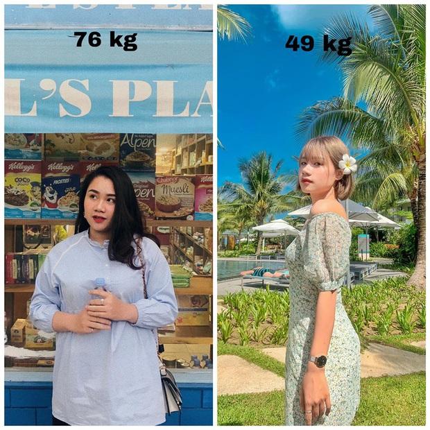 Từng bị chê bai là con mập, cô gái Hà Nội giảm gần 20kg chỉ sau một năm nhờ 7 ăn, 3 tập - Ảnh 4.