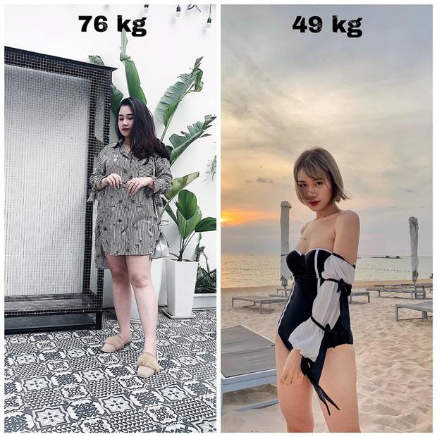 Từng bị chê bai là con mập, cô gái Hà Nội giảm gần 20kg chỉ sau một năm nhờ 7 ăn, 3 tập - Ảnh 5.