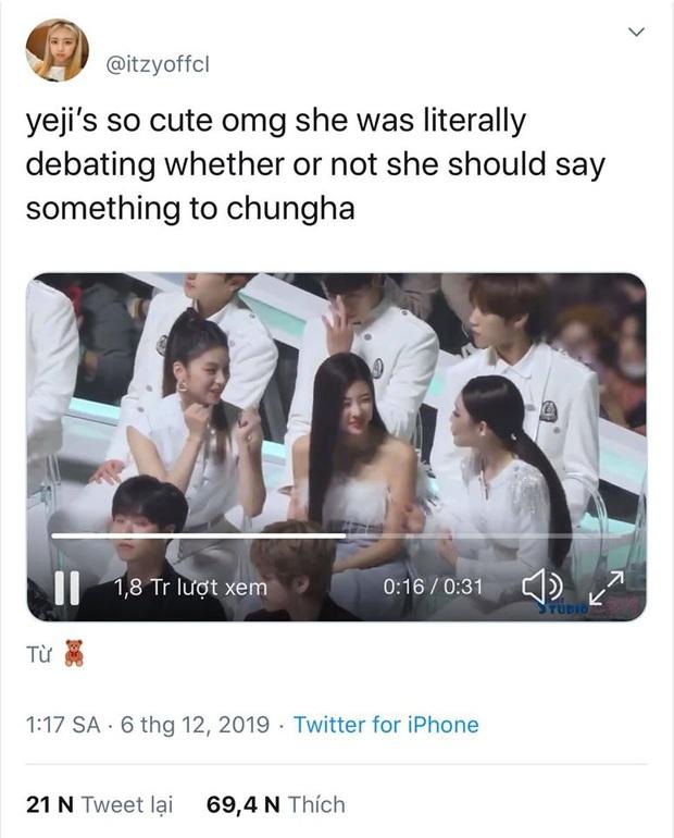 Khoảnh khắc gây bão: Yeji (ITZY) muốn bắt chuyện với Chungha mà hồi hộp, mắt đảo liên hồi, tim đập bịt bịt chuẩn fangirl thực thụ - Ảnh 8.