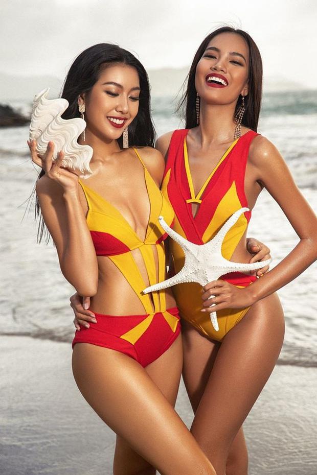 Trước giờ G, dàn thí sinh HHHV tự tin khoe dáng với bikini ngay trên biển: Thúy Vân, Lê Hoàng Phương chung khung hình, ai tỏa sáng? - Ảnh 3.