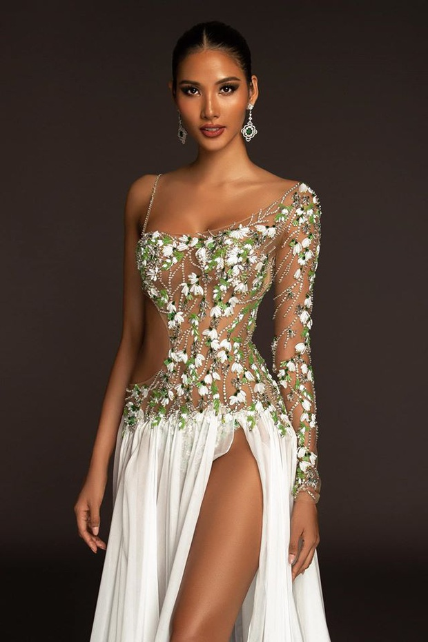 Hoàng Thùy chốt sổ thi dạ hội cùng Quốc phục Cà Phê trong đêm bán kết Miss Universe, lập tức được dự đoán Top 10! - Ảnh 5.