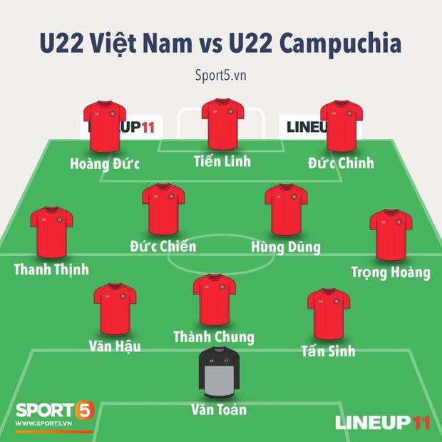Đè bẹp Campuchia 4-0, U22 Việt Nam vào chung kết SEA Games sau tròn một thập kỷ chờ đợi - Ảnh 3.
