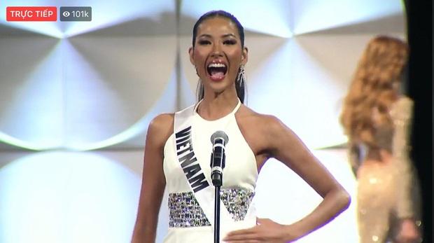 Hoàng Thùy xuất hiện ở vị trí vedette, hô to 2 tiếng Việt Nam đầy thần thái trong đêm thi bán kết Miss Universe 2019 - Ảnh 1.