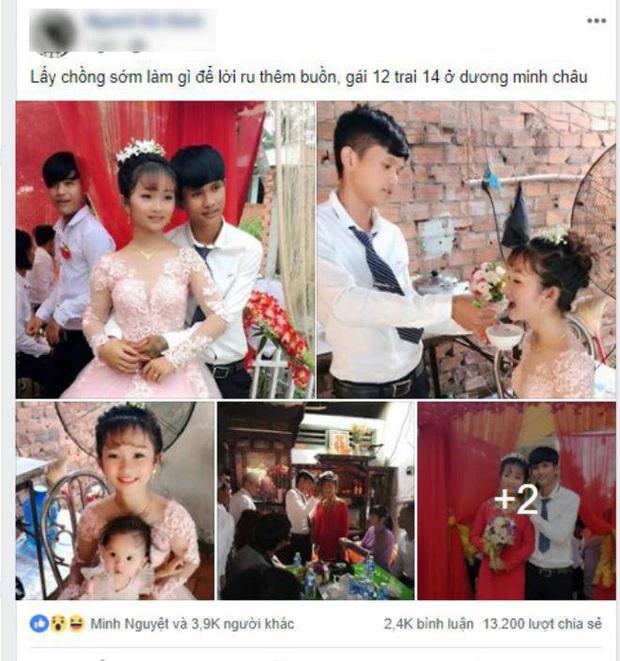 Xôn xao thông tin cặp đôi cô dâu 12, chú rể 14 từng gây bão mạng đã huỷ đám cưới, đường ai nấy đi sau 1 năm đính hôn - Ảnh 1.