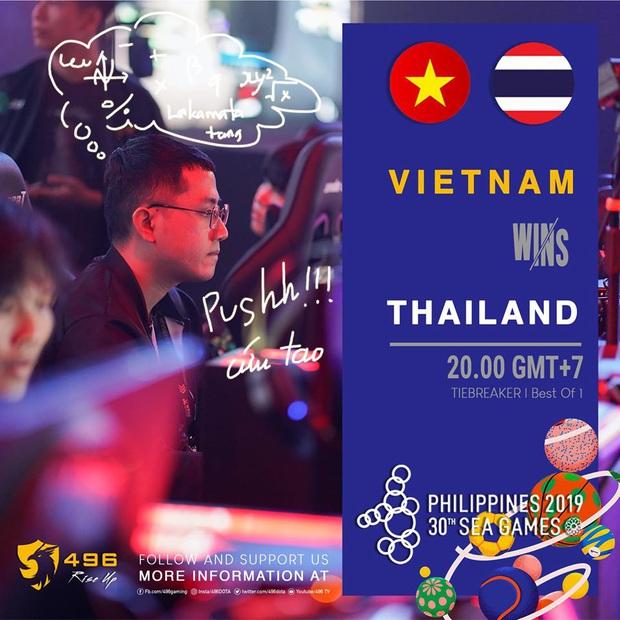 Hạ gục Thái Lan ở loạt trận tie-break, 496 chắc chắn sẽ mang về huy chương SEA Games cho đoàn eSports Việt Nam - Ảnh 4.