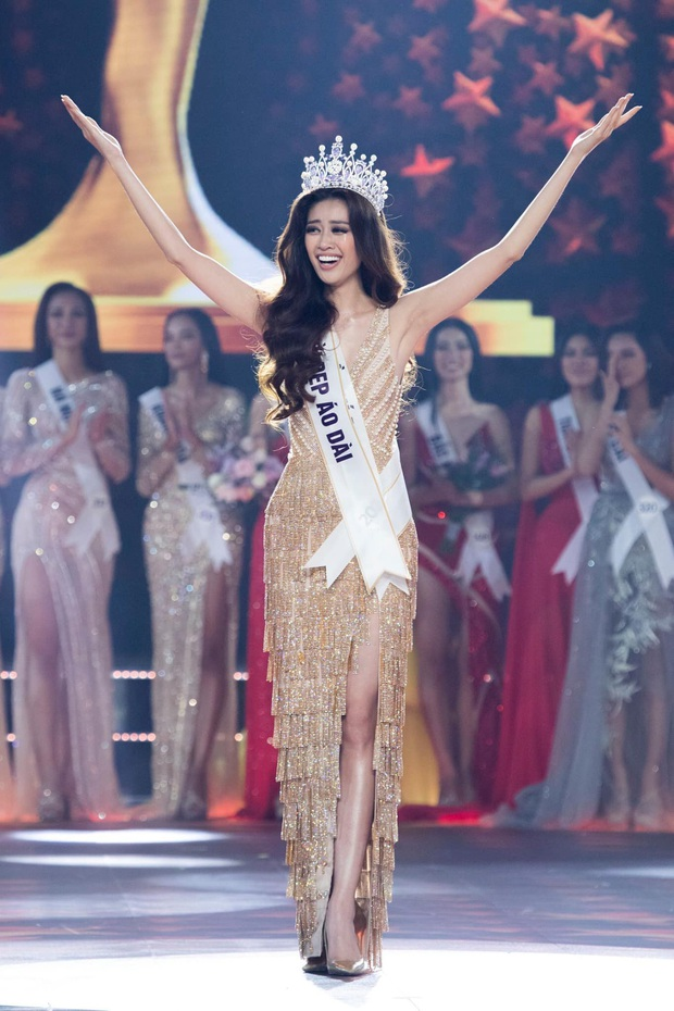 Đầm dạ hội Hoa hậu Khánh Vân diện lúc đăng quang: Zoom kỹ mới thấy lộng lẫy hết sức, tiên đoán phần nào kết thúc có hậu - Ảnh 2.