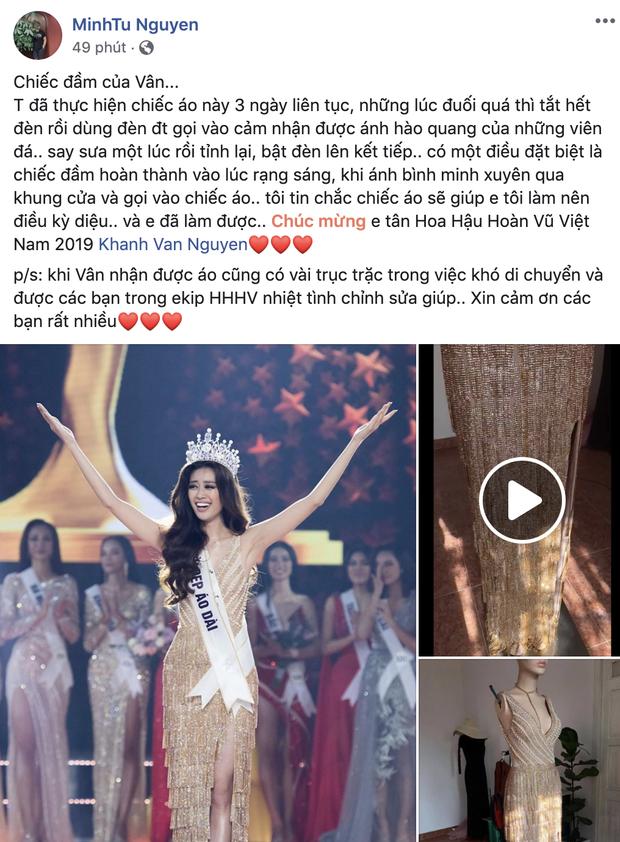 Đầm dạ hội Hoa hậu Khánh Vân diện lúc đăng quang: Zoom kỹ mới thấy lộng lẫy hết sức, tiên đoán phần nào kết thúc có hậu - Ảnh 5.