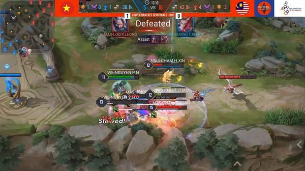 SEA Games 30: Đánh bại Malaysia, tuyển Liên Quân Việt Nam tái đấu Thái Lan ở trận Chung kết nhánh thua! - Ảnh 2.