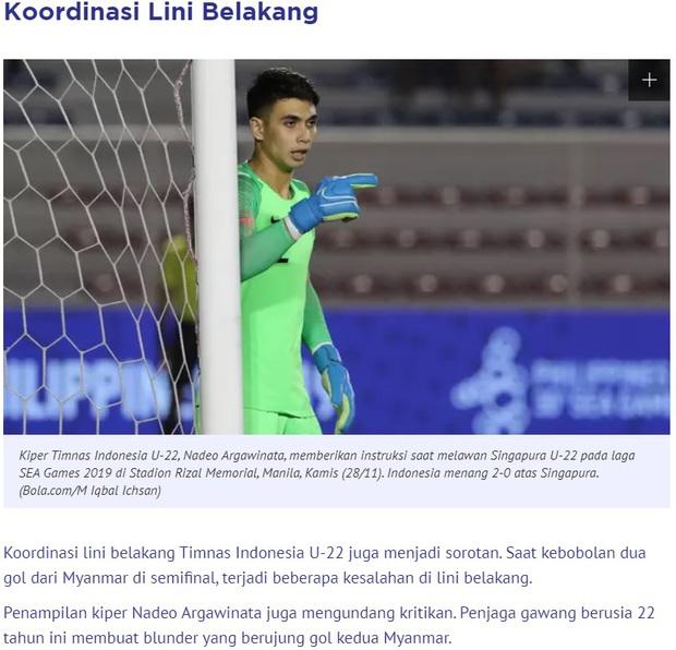 Chỉ vì 1 sai lầm, thủ thành đẹp trai của Indonesia bị báo chí nước nhà coi là vị trí yếu kém trước trận chung kết với Việt Nam - Ảnh 3.