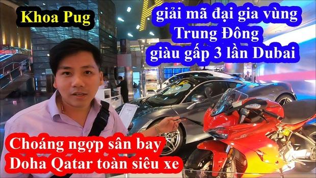 Bỏ cả đống tiền đi Qatar Airways nhưng lại gọi nhầm tên, Khoa Pug vẫn tự tin khoe siêu xe ở đây rẻ như... rau ngoài chợ, sẵn sàng mua luôn để review - Ảnh 1.