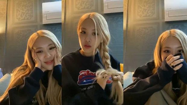 Có idol nào như Rosé (BLACKPINK): Đang livestream mà thành show… uống nước, biểu cảm thì dễ thương muốn xỉu! - Ảnh 2.
