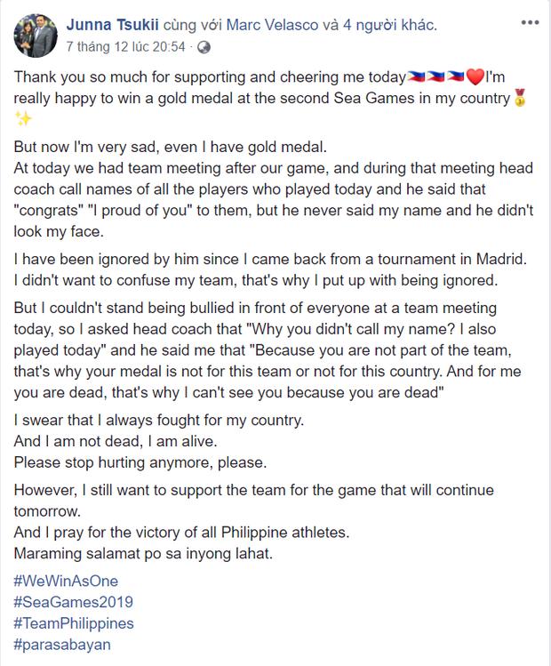 Giành vàng SEA Games nhưng nữ võ sĩ karatedo Philippines giàn giụa nước mắt tố HLV trưởng không thèm quan tâm - Ảnh 1.