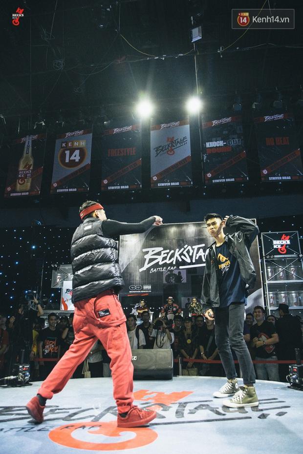 Điểm lại những pha bẻ lyric của các đấu thủ tại vòng Knock-out Beck'Stage Battle Rap: RichChoi, Đại Vũ, Linh Thộn ai bẻ lái gắt hơn? - Ảnh 1.
