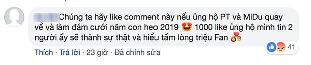 Rõ ràng đã chia tay 3 năm, fan vẫn kéo vào Facebook Midu vote 1000 like để quay lại với Phan Thành - Ảnh 3.