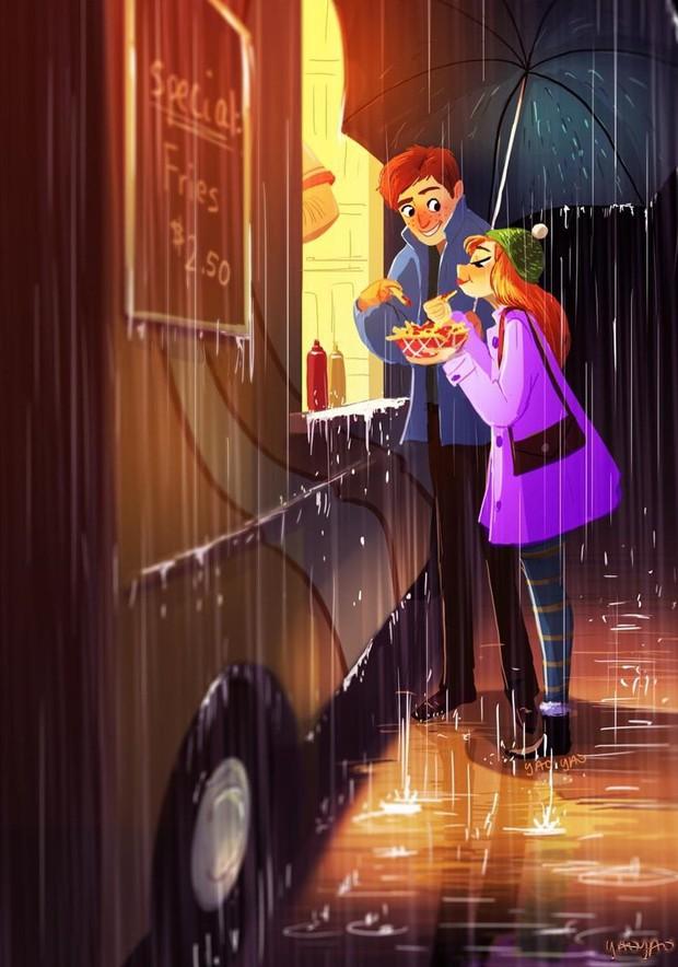 Bộ tranh Tình yêu có màu gì sẽ khiến bạn bất giác mỉm cười vì quá ngọt ngào - Ảnh 7.