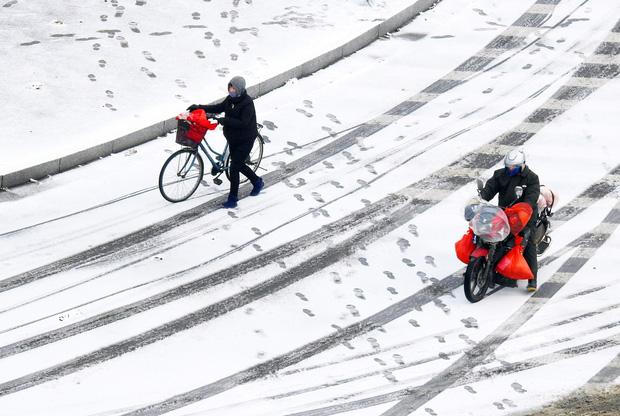 Vẻ đẹp trong trẻo của tuyết mùa xuân ở Trung Quốc khiến nhiều tín đồ du lịch cuồng chân dù đã hết Tết - Ảnh 6.