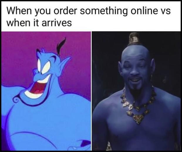 Thần Đèn Aladdin trở thành vựa muối để cư dân mạng chế ảnh nhờ tạo hình quá tệ - Ảnh 12.