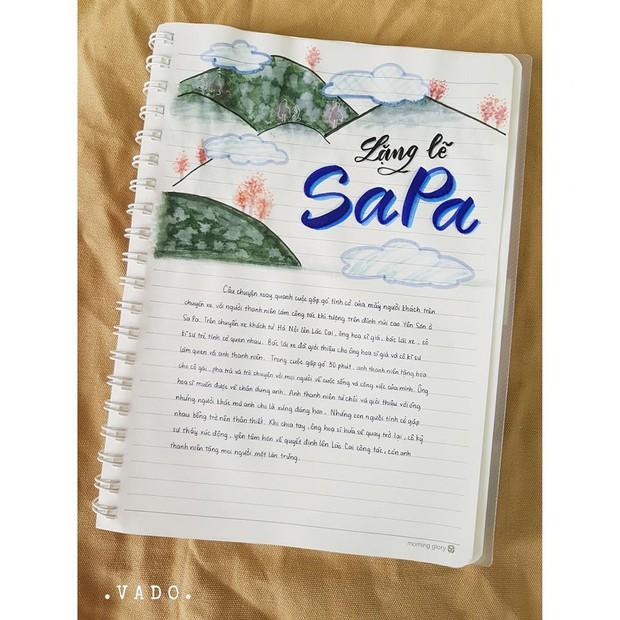 Nữ sinh lớp 9 khiến dân mạng phát cuồng khi biến vở Văn thành tác phẩm hội hoạ đẹp mê hồn - Ảnh 5.