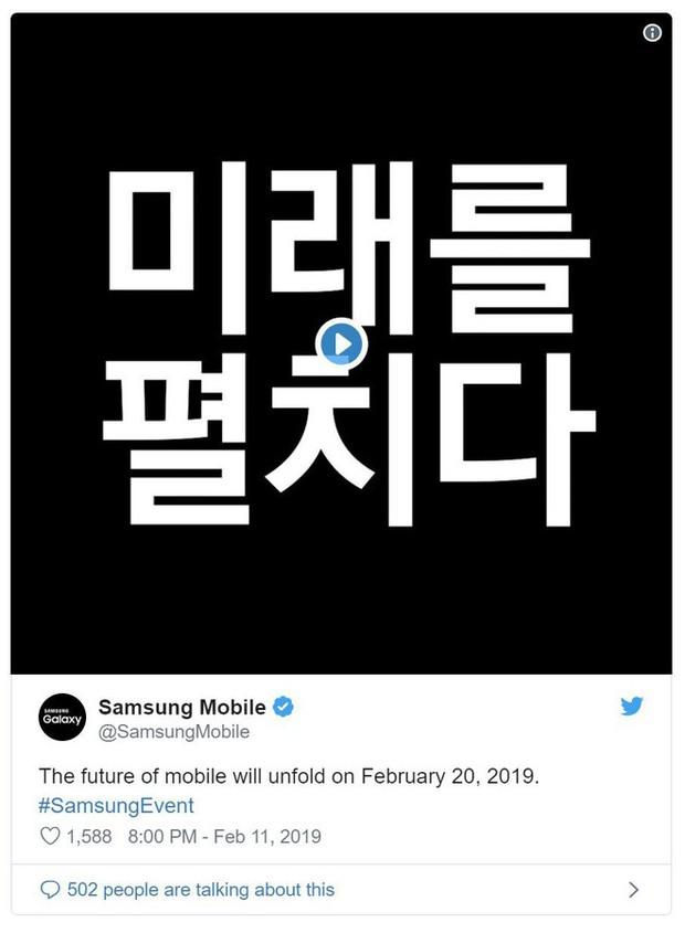 Samsung xác nhận ra mắt smartphone màn hình gập vào ngày 20/2 - Ảnh 1.