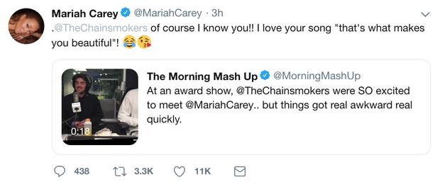Không còn hỏi Ủa đó là ai nhưng Mariah Carey lại nhầm The Chainsmokers là One Direction - Ảnh 1.