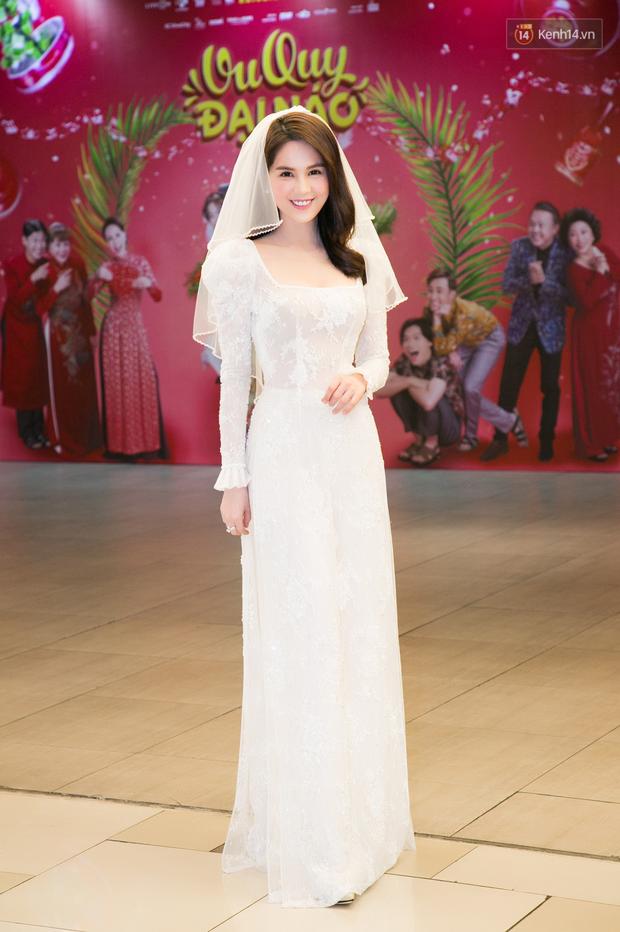 Chị em gái ế Ngọc Trinh - Diệu Nhi nắm tay nhau xúng xính làm cô dâu tại buổi ra mắt Vu Quy Đại Náo - Ảnh 4.