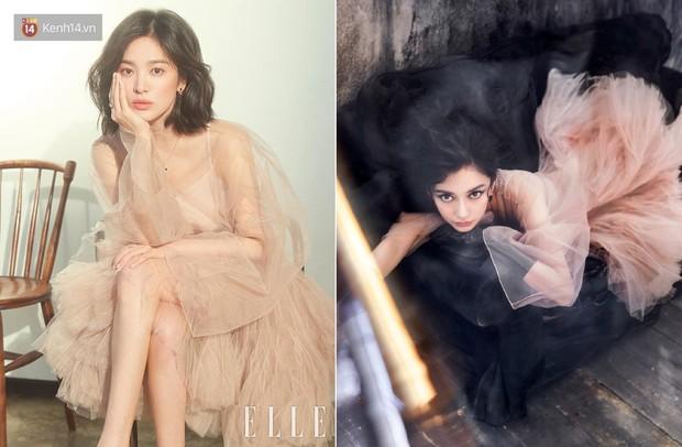 """Một chiếc váy 2 số phận: Song Hye Kyo sang chảnh như bà hoàng, Angela Baby lại bị ví như """"cá vàng bơi tung tăng"""" - Ảnh 7."""