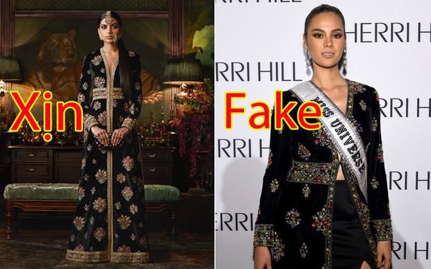 Phốt lớn đầu năm: Hoa hậu Hoàn vũ 2018 bị tố mặc váy nhái đến New York Fashion Week - Ảnh 5.