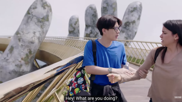 HLV The Face Thái đeo bám Jun Vũ không ngừng khi ekip phim Thái Wolf ghi hình tại Đà Nẵng - Hội An - Ảnh 3.