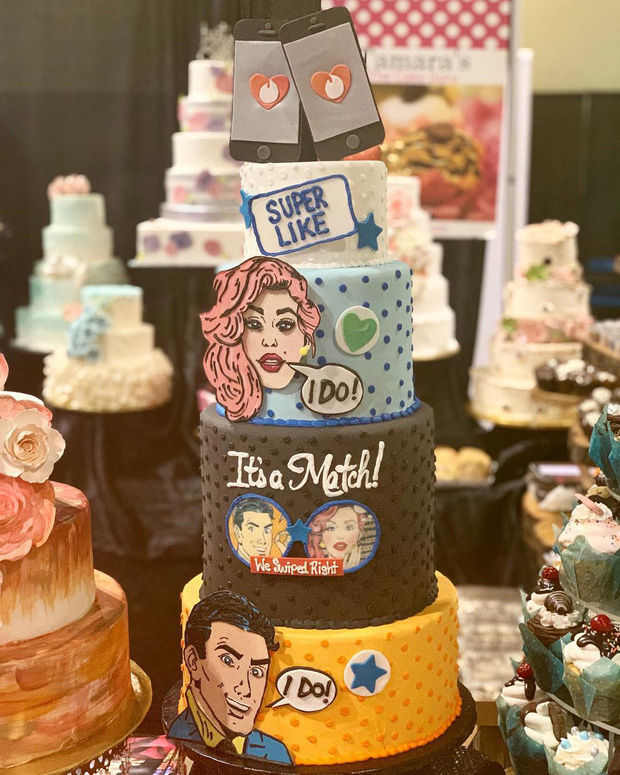 Hot trend thế giới đua nhau cưới theo phong cách Tinder: Tự design bánh, ảnh, thiệp cưới nhìn là mê - Ảnh 2.