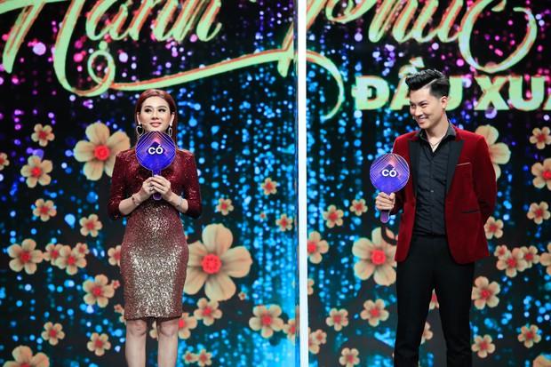 Lâm Khánh Chi liên tục dọa khóc, ly dị chồng khi chơi gameshow đầu năm - Ảnh 2.