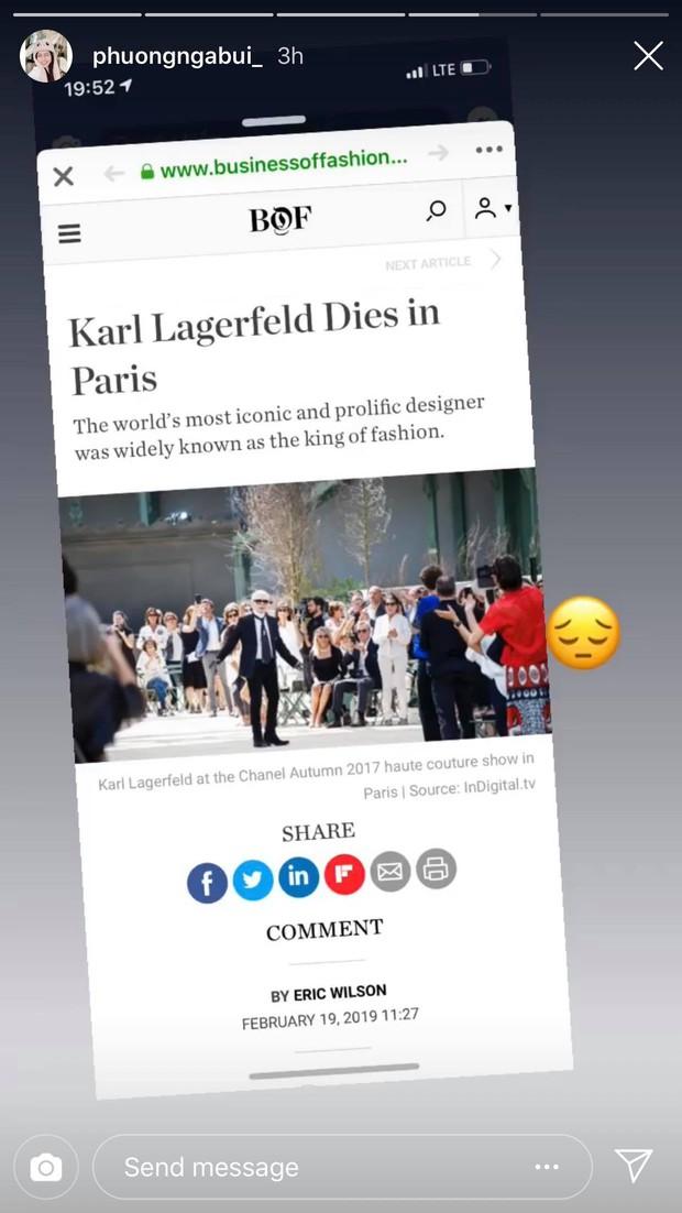 Hoa hậu Mai Phương Thuý, Á hậu Phương Nga và nhiều NTK, stylist thương tiếc trước sự ra đi của huyền thoại thời trang Karl Lagerfeld - Ảnh 2.