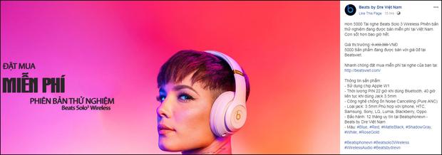 Xôn xao fanpage bán tai nghe Beats 0 đồng trên Facebook: Sặc mùi nghi vấn, cách thức dễ dụ hơn cả lần trước - Ảnh 1.
