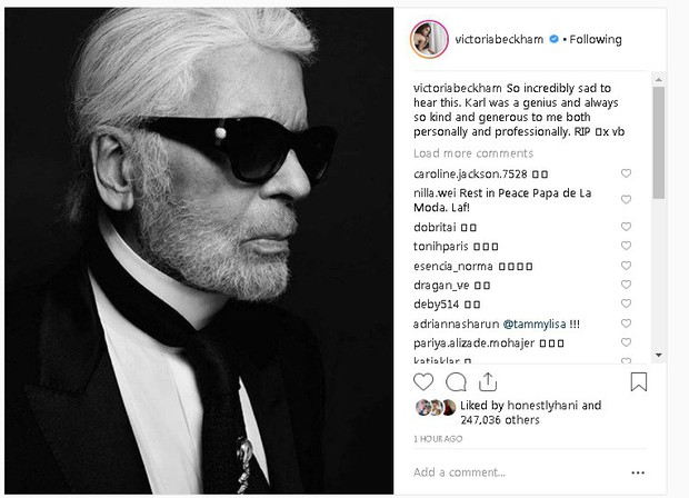 Karl Lagerfeld qua đời, Victoria Beckham, Gigi, Bella Hadid và loạt sao thế giới bày tỏ niềm thương tiếc với huyền thoại thời trang - Ảnh 1.