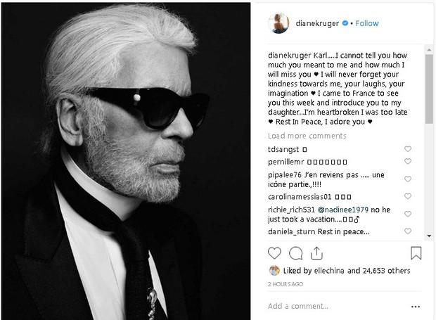 Karl Lagerfeld qua đời, Victoria Beckham, Gigi, Bella Hadid và loạt sao thế giới bày tỏ niềm thương tiếc với huyền thoại thời trang - Ảnh 12.