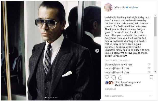 Karl Lagerfeld qua đời, Victoria Beckham, Gigi, Bella Hadid và loạt sao thế giới bày tỏ niềm thương tiếc với huyền thoại thời trang - Ảnh 5.