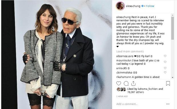 Karl Lagerfeld qua đời, Victoria Beckham, Gigi, Bella Hadid và loạt sao thế giới bày tỏ niềm thương tiếc với huyền thoại thời trang - Ảnh 15.