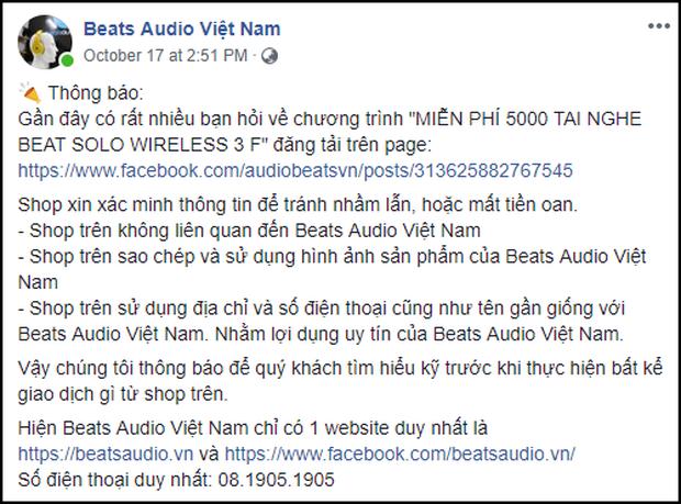 Xôn xao fanpage bán tai nghe Beats 0 đồng trên Facebook: Sặc mùi nghi vấn, cách thức dễ dụ hơn cả lần trước - Ảnh 3.