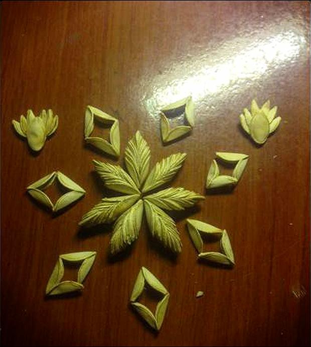 Những cô nàng rảnh nhất MXH: Đem mì tôm đan khăn, bóc thanh long bỏ hạt, xếp vỏ hạt bí thành hoa - Ảnh 9.