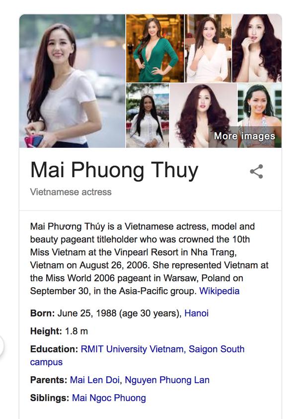 Chư vị quần hùng thạo Internet, xin hãy giúp Mai Phương Thuý sửa thông tin trên Wikipedia - Ảnh 4.