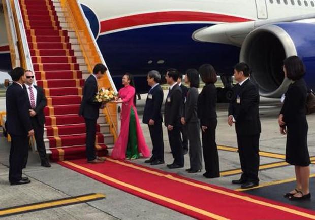 Những nữ sinh vừa xinh vừa giỏi từng gây sốt khi được tặng hoa cho Tổng thống, Thủ tướng các quốc gia đến thăm Việt Nam - Ảnh 5.